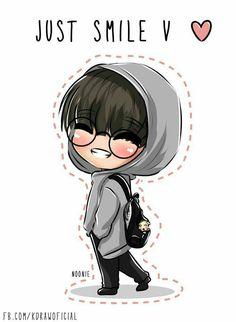 asbawag's Photos, Drawings and Gif bts Easy Cartoon Drawings, Kpop Drawings, Kawaii Drawings, Bts Chibi, Bts Kawaii, Kawaii Chibi, Taehyung Fanart, Bts Taehyung, Dibujos Cute