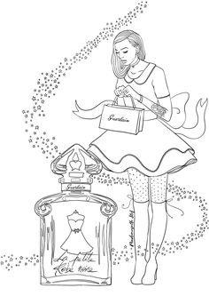 la petite robe noire guerlain coloriage