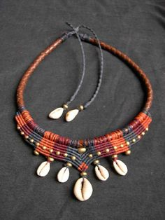 Tribal Macrame Choker Collier Mama Africa with by MagicKnots