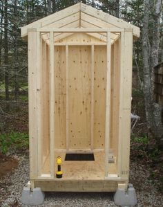 построить туалет на даче фото чертежи