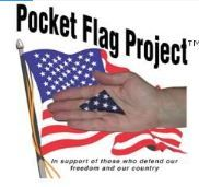 """Pocket Flag Project - a service project idea for Cub Scouts: volunteers fold and package flags. Included in each package is a card which says """"A flag for your pocket so you can always carry a little piece of home. We are praying for you and we are proud of you. Thank you for defending our country and our freedom."""""""