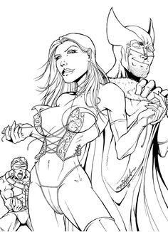 Emma Frost Wolverine Cyclops
