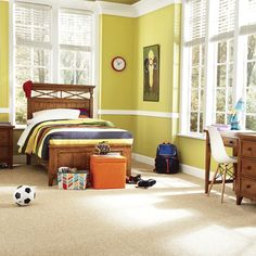 Create a cozy feeling in your home with comfortable, versatile carpeting. With countless colors, styles, and piles, carpet provides homeowners with style flexibility.