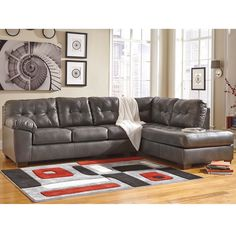 Signature Design by Ashley Alliston Sectional with Right Side Facing Chaise in…