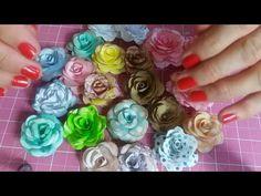 Flores de forminhas de doce - YouTube Foam Crafts, Diy And Crafts, Diy Wedding Lighting, Diy Clothes Organiser, Diy Crafts For Boyfriend, Wonderful Flowers, Paper Butterflies, Flower Crafts, Diy Paper