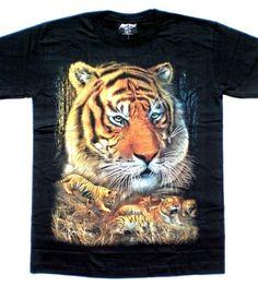 Maglietta nera con tigre