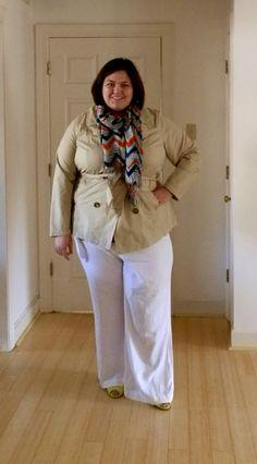 White pants on plus size are ok!