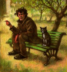 Down and out, Federico Milano Pastel, Saatchi Art, Art Pieces, Art Gallery, The Originals, Cats, Drawings, Artwork, Painting