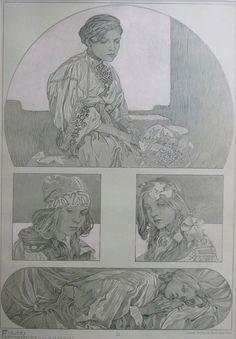 ❤ - Alphonse Mucha | Documents Decoratifs.