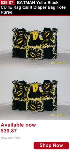 designer tote diaper bags 50qp  Baby Diaper Bags: Batman Yello Black Cute Rag Quilt Diaper Bag Tote Purse  BUY IT