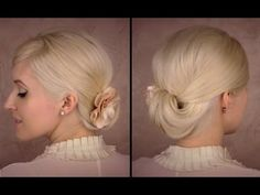 hair tutorials Elegant formal updo with a low roll