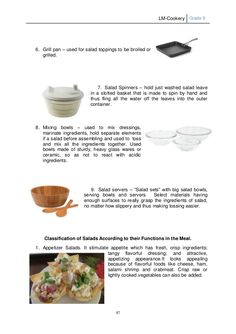 LM Cookery G9 Salad Toppings, Mixing Bowls, Kitchen Gadgets, Grilling, Teacher, Cooking, Projects, Serving Bowls, Kitchen