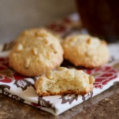 Italian Pignoli Cookies (Pine Nut or Pinon Cookies) are crunchy, chewy, sweet and nutty, Flourless cookies with only 4 ingredients!