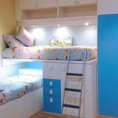 Encuentra tu cama nido o tren en Facil Mobel. La habitación ideal para tu niño: con cajones, blancas, en L, compactas... ¡muebles juveniles para todos!