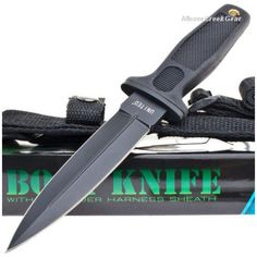 United Cutlery UC0026BS Undercover Boot Knife Black & Shoulder Harness | MooseCreekGear.com | Outdoor Gear — Worldwide Delivery! | Pocket Knives - Fixed Blade Knives - Folding Knives - Survival Gear - Tactical Gear