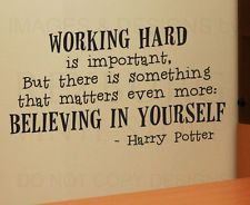 Wall Decal Quote Vinyl Sticker Art Lettering Graphic Harry Potter Work Hard G08