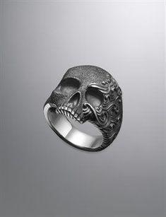 Men's Diamond & Sterling Silver Rings | Men's Jewelry | David Yurman #SterlingSilverDavidYurman