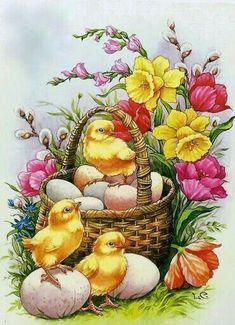 Vintage Easter by iris-flower, Lars Carlsson art Images Vintage, Vintage Cards, Vintage Postcards, Easter Art, Easter Crafts, Easter Bunny, Easter Pictures, Photo D Art, Easter Parade
