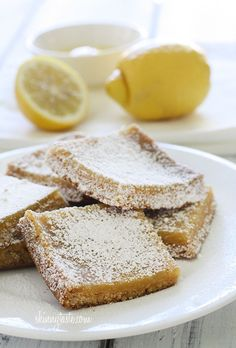 Skinny Honey Lemon Bars - BUT I don't want to use butter. I'll have to figure out something else to use.