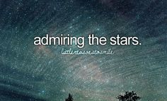 I absolutely love the stars. There is something mesmerizing in the way they twinkle and light up the sky.
