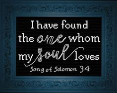 Cross Stitch Design My Soul Loves - Song of Solomon - Cross Stitch - My Soul Loves - Song of Solomon - Cross Stitch Hand Embroidery Stitches, Embroidery Techniques, Cross Stitch Embroidery, Embroidery Patterns, Cross Stitch Heart, Cross Stitch Kits, Cross Stitch Designs, Wedding Cross Stitch Patterns, Love Songs