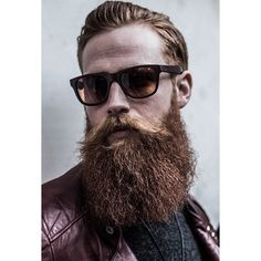 Gwilym Pugh - full thick red beard and mustache with great coloration beards bearded man men ginger redhead sunglasses style handsome #beardsforever