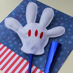 Going to the Fourth-of-July parade? Let Mickey lend you a hand waving on your favorite floats with a bright white felt glove that really stands out in the crowd. #IndependenceDay