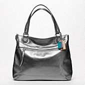 COACH Poppy Leather Glam Tote