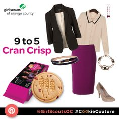 "Work Outfit Based off of the ""Cranberry Crisp"" Girl Scout Cookie"
