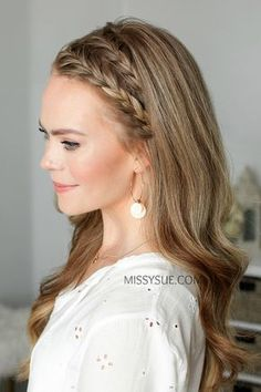 Half Up French Braid Crown 🧡 Tag a friend who would love this style! ✨ Hair tutorial link in my bio! 👈🏼 Outfit details linked here:… French Braid Hairstyles, Fancy Hairstyles, Box Braids Hairstyles, French Braids, Dutch Braids, Fishtail Braids, Braided Headband Hairstyles, French Braid Styles, Teenage Hairstyles