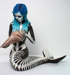 Day of the Dead style Mermaid on Etsy, $190.00