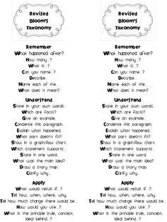 One Happy Teacher: Revised Bloom's Taxonomy
