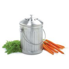 Stainless Steel Compost Crock, Compost Pail | Gardeneru0027s Supply