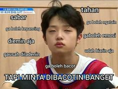 meme meme indonesia crush on you All Jokes, Cartoon Jokes, Jokes Quotes, Memes Funny Faces, Funny Kpop Memes, Bts Memes, Funny Tweets Twitter, Funny Duck, K Meme