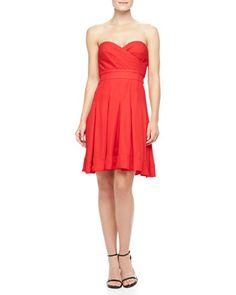 Benita Strapless Sweetheart Dress by Catherine Malandrino at Neiman Marcus Last Call.