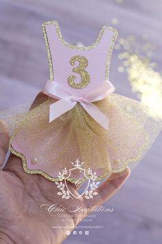 Pink and Gold Tutu Birthday Invite Ballerina Invitation Ballerina Birthday Parties, Ballerina Party, Baby Girl Birthday, 4th Birthday Parties, Birthday Party Decorations, Tutu Invitations, Handmade Invitations, Birthday Invitations, Gold Tutu