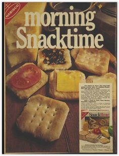 Nabisco Snacktime Crackers Biscuits Magazine Advertisement Ad February 1970 Vintage Retro