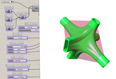 Smooth junction/blend a minimum of 4 extrusions