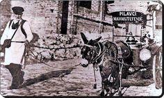Pilavcı Mahmut Efendi ve eşek arabası.