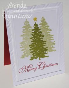 CT0913 CAS Evergreen Card by Qbee - Cards and Paper Crafts at Splitcoaststampers
