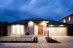 This lovely facade has an elegant and charismatic atmosphere. #weeksbuildinggroup #newhome #homedesign