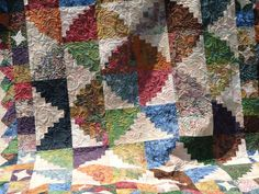 Mountain+Retreat+Log+Cabin+Quilt+by+Lovedquilts+on+Etsy,+$300.00