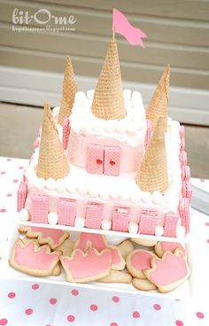 simple castle cake, I know this isn't Peter Pan related but it might be helpful for future reference.