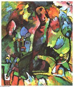 'Image avec archer', huile sur toile de Wassily Kandinsky (1866-1944, Russia)