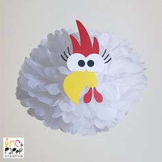Farm Party Hen Chicken Pompom Decoration/Barnyard party/Farmyard Party Supplies/Old McDonald Farm Animals/Ranch/Barnyard birthday Farm Animal Birthday, Farm Birthday, Birthday Parties, Barnyard Party, Farm Party, Emoji, Pom Pom Baby, Hen Chicken, Farm Theme