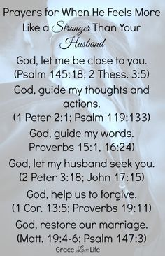 Bible Verses to Live By:prayers when he feels like a stranger Prayer For My Marriage, Godly Marriage, Strong Marriage, Saving A Marriage, Save My Marriage, Happy Marriage, Love And Marriage, Marriage Advice, Broken Marriage