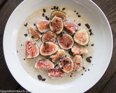 Fresh Figs in Cashew Cream with Toasted Coconut This fig dish can be ...
