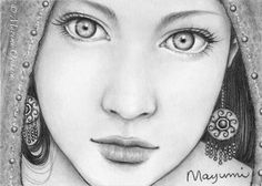 """The Seer - ACEO Limited Edition Print, pencil drawing, fantasy art, 2.5 X 3.5""""."""