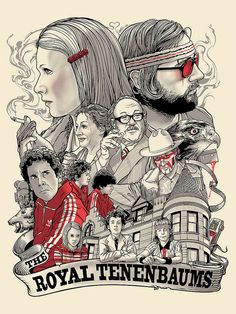 bad dads at spoke art Joshua Budich the royal tenenbaums. (sold out)