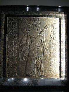 "midwesternartlovertraveler: "" Winged Genie Fertilizing a Date Tree, Assyrian, Nelson-Atkins Museum, Kansas City, Missouri http://midwesternartlovertraveler.tumblr.com/ """